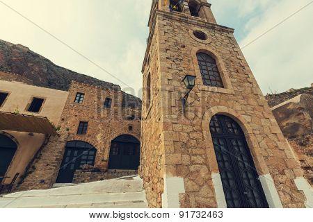 Beautiful ancient town  Monemvasia, Greece
