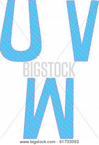 Uvw Letters Symbols Alphabet