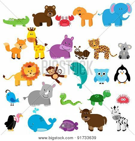 Vector Collection of Animals - One animal for each letter of the alphabet