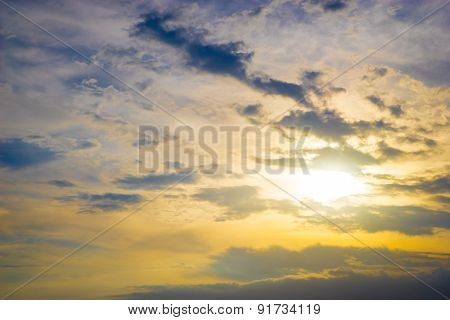 Colorful Sky In Twilight Time Background