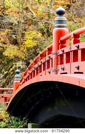 Red bridge in Nikko