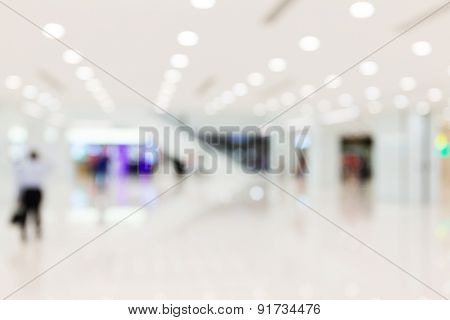 Defocus of Shopping store for background usage
