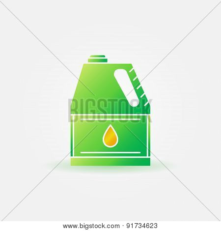 Motor oil for car bright icon