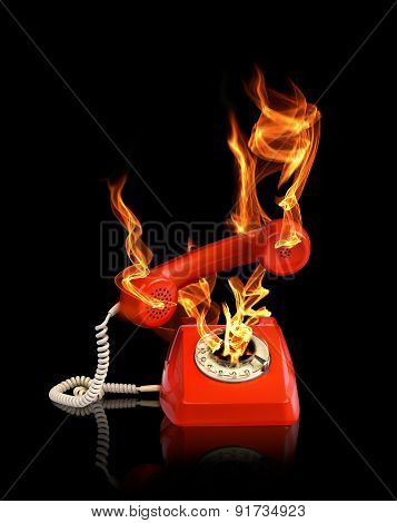 Hot Line Phone In Fire