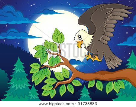 Image with eagle theme 2 - eps10 vector illustration.
