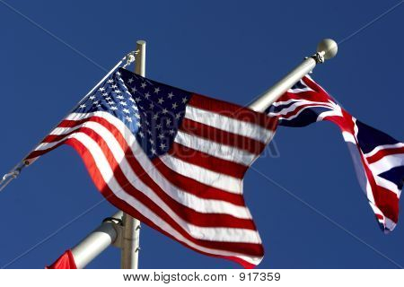 Pride Of Two Nations, America And Great Britain