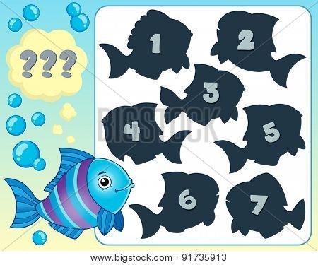 Fish riddle theme image 1 - eps10 vector illustration.