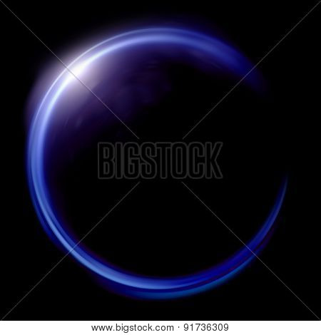 Lens Ring Flares Crossing Of Circle Shape