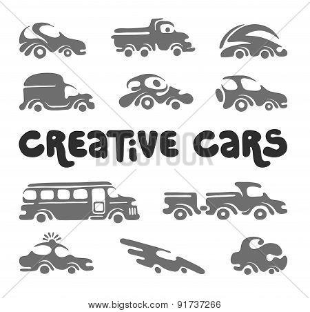 Creative cars design elements.