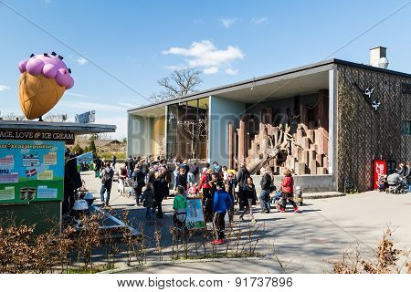People In Copenhagen Zoological Garden