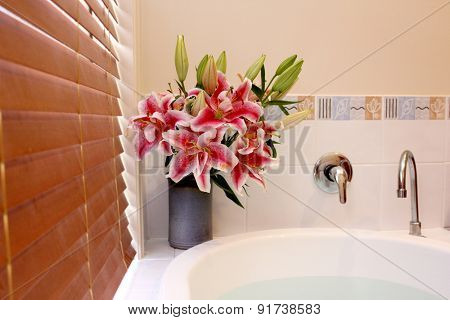 Lilies in Bathroom 1
