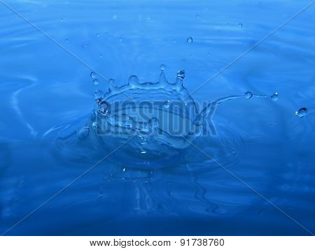 Blue Water Splash. Corona