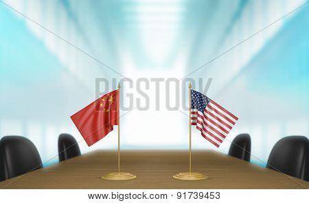China and United States relations and trade deal talks