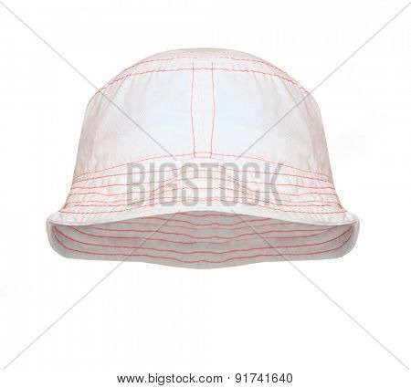 Bucket hat for outdoor activities. Hat in position for easy face insert.