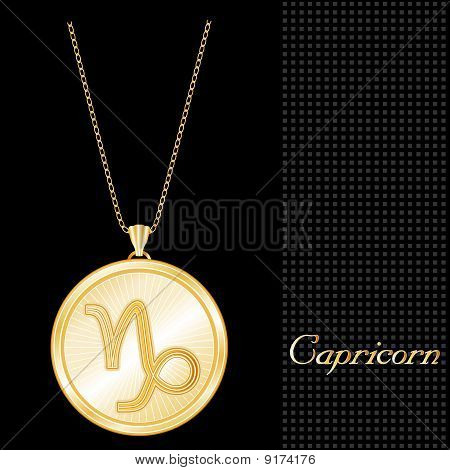 Capricorn Medallion
