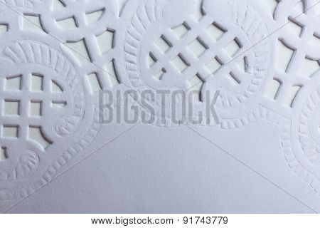 Paper lace napkin background
