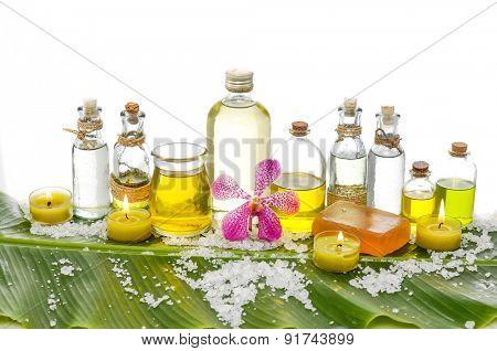 Banana leaf background- Health spa