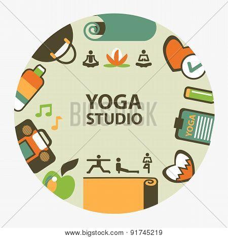Yoga Studio Emblem.