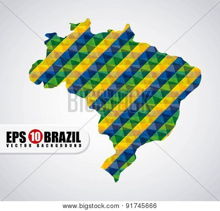 Brazil design over gray background vector illustration