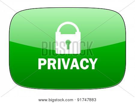 privacy green icon