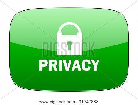 privacy green icon