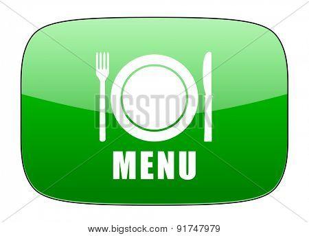 menu green icon restaurant sign