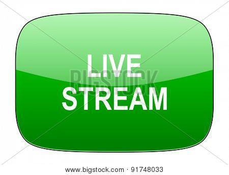 live stream green icon