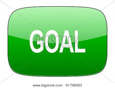 goal green icon