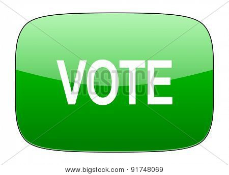 vote green icon