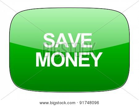 save money green icon