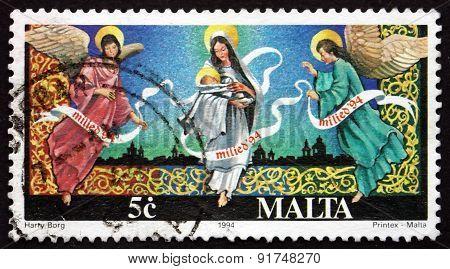 Postage Stamp Malta 1994 Christmas