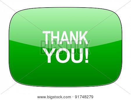 thank you green icon