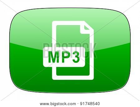 mp3 file green icon