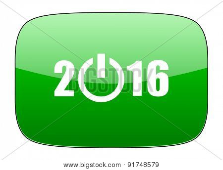 new year 2016 green icon new years symbol