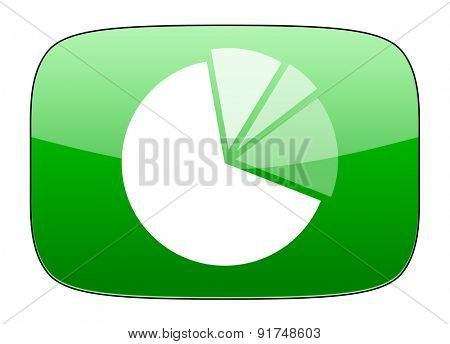 diagram green icon graph symbol
