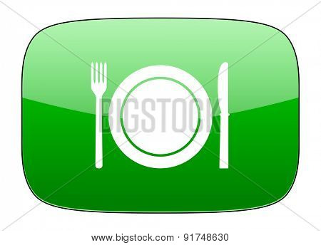 eat green icon restaurant symbol