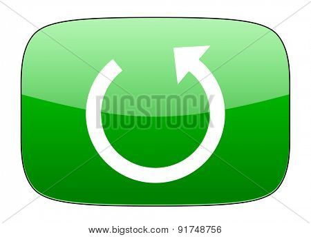 rotate green icon reload sign