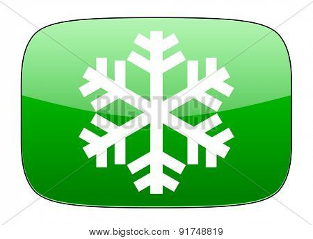 snow green icon air conditioning sign