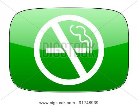 no smoking green icon