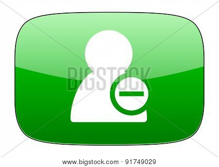 remove contact green icon