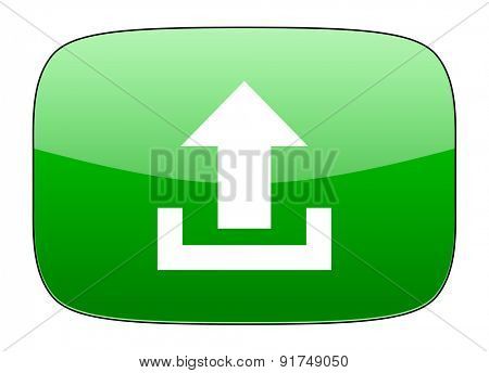 upload green icon