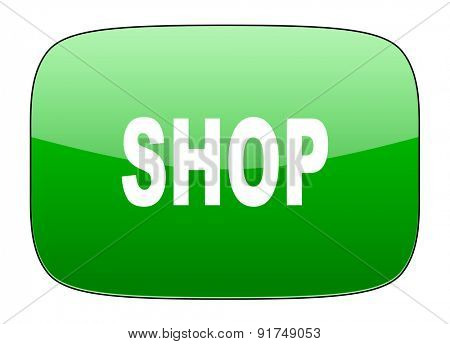 shop green icon