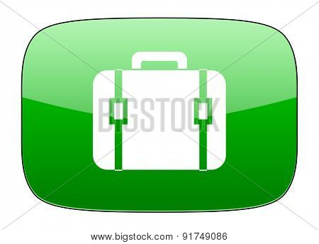 bag green icon luggage sign
