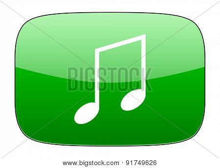 music green icon note sign