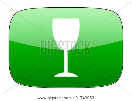 alcohol  green icon glass sign