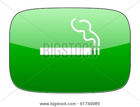 cigarette green icon nicotine sign