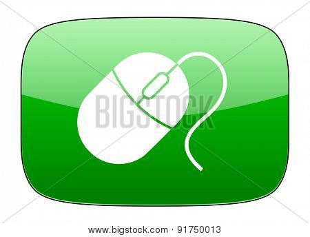 computer mouse green icon