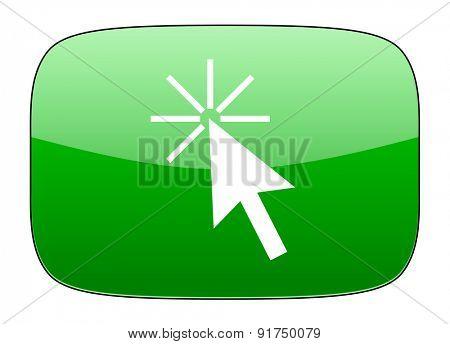 click here green icon