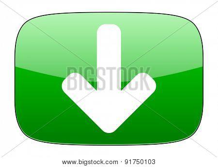 download arrow green icon arrow sign