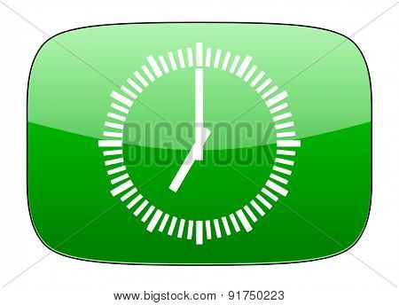 time green icon clock sign